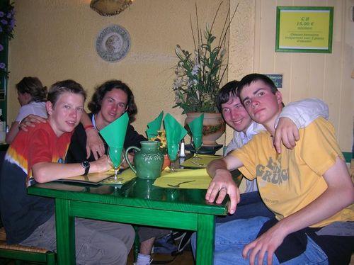 Des amis (émilien, riki, reg) et moi